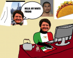 heph mexico ms_paint mug_shot taco white  rating:Questionable score:0 user:habris