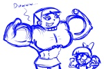 Nickelodeon abs dustindemon_(artist) fairly_oddparents flexing front_double_biceps genderbend muscles muscular_female muscular_girl sketch timmy_turner trixie_tang  rating:Questionable score:0 user:animatedfemuscles
