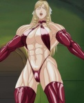 abs blonde_hair breasts discipline_(hentai) eyes_closed happy hot leona_morimoto milf muscles muscular_female sexy  rating:Safe score:1 user:MuscleFan11