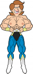Nixtack abs bodybuilder breasts brown_hair ear_piercing grin mighty_mom mrs._turner_(timmy's_mom) muscles muscular Nickelodeon superhero the_fairly_oddparents topless  rating:Questionable score:0 user:animatedfemuscles