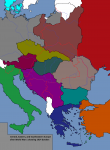 1914 1923 albania austria bulgaria color czechoslovakia denmark europe germany greece hungary italy latvia lithuania poland rivers romania soviet_union sweden switzerland turkey yugoslavia  rating:Safe score:3 user:TheDarkLord