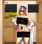 1girl artist:radprofile black_box_censoring blue_eyes breasts caption censored_armpits censored_breasts censored_eyes censored_navel censored_pussy character:mona_(warioware) cleavage coat door doorway editor:renzentenden female financial_domination food goggles goggles_on_head gradient gradient_background hand_on_hip helmet highres large_breasts long_caption long_hair looking_at_viewer naked_coat navel nipples orange_hair pizza pussy series:mario series:warioware smile solo  rating:Questionable score:1 user:RenZenTenDen