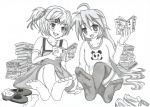 anime benny2805 books doki_doki_literature_club feet konata_izumi lucky_star manga monika natsuki otaku shoes sneakers socks soles  rating:Questionable score:0 user:Benny2805
