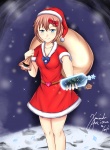 alternate_outfit bottles santa_hat sayori solo xanadu  rating:Safe score:0 user:Guest