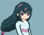 katanagatari pixel_art purple_eyes purple_hair yasuri_nanami  rating:Safe score:0 user:cog