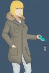 artist_request blonde_hair brown_eyes jacket jeans midorikawa_hana phone prison_school winter  rating:Safe score:0 user:cog