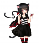 black_hair cat_ears cat_tail dog_days noir_vinocacao red_eyes ruuey_(artist) tagme  rating:Safe score:0 user:anooon
