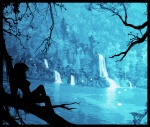 artist_request fairy fantasy forest lake landscape scenery silhouette water waterfall  rating:Questionable score:0 user:BLloyd607502