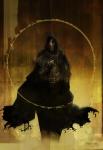 armor bergting_(artist) character cloak fantasy hood hooded male mask tome  rating:Safe score:0 user:AllanGordon