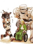 blonde_hair bolt box cute female glasses human junk mana291_(artist) old old_woman open_mouth original robot running science_fiction scifi size_difference smile springs wheelchair  rating:Safe score:0 user:Jive_Teej