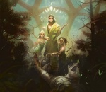 brown_hair butterfly card_art druid fantasy female green long_hair mage magic magic_the_gathering nature ravnica selesnya sorcerer tagme trees trio trostani voice wizard  rating:Safe score:0 user:DonQuixote