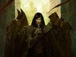 artist_request black_hair blue_eyes character cloak fantasy hood male mask scar  rating:Safe score:1 user:AllanGordon