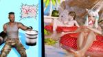 barret_wallace beach final_fantasy fish studio_neo thievery tifa_lockhart y'shtola  rating:Questionable score:2 user:kallenfag