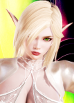 blonde_hair elf green_eyes high_rated non-human pointed_ears tagme  rating:Questionable score:43 user:elbowlick