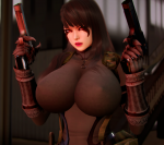 black_hair card female honey_select large_ass large_breasts party_dlc red_eyes special_force tagme  rating:Questionable score:14 user:Bogo