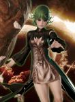 anime card esper female green_eyes green_hair honey_select large_card_mod manga one_punch_man party_dlc selene_card tatsumaki  rating:Safe score:16 user:selene
