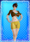 curvy female muscular overwatch short_hair thicc thick_thighs tracer video_games  rating:Questionable score:2 user:EthAndroid