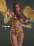 chains coordinate_card gloves gold high_heels madison_ivy tagme wings  rating:Questionable score:-41 user:chivas135