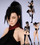 black_hair high_rated honey_select kaen kunoichi muscular ninja odd_eyes psikyo retro_game shooting_game silentreader video_games  rating:Questionable score:49 user:anpeg1123