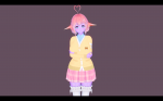 ears koikatsu pink_hair purple_skin  rating:Safe score:0 user:screamii