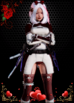 honey_select red_eyes sword teen white_or_silver_hair  rating:Questionable score:4 user:poliloli