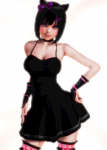 black_hair cat dancer honey_select kaat large_breasts nekomimi short_hair  rating:Safe score:8 user:poliloli