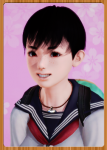 dark_hair freckles import sbpr short_hair tomboy  rating:Questionable score:0 user:MassFunction