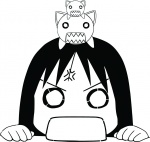 anime azumanga_daioh cat girl kitten nekokoneko osaka  rating:Safe score:0 user:stencil