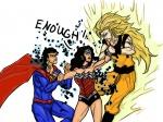 crossovers dc diana_prince dick_hammersmith dragon_ball goku superman wonder_woman  rating:Safe score:1 user:Rawbin