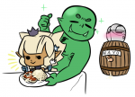 bodyguard bodyguard_orc bodyguard_orc_trio companion crown cum dusk dusk_elf dusk_elf_princess elf elf_princess gen_iii generation_iii green_skin human knight orc orc_trio princess reaction_images sir sir_knight trio  rating:Explicit score:0 user:Anonymous
