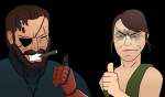 colored grin metal_gear_solid metal_gear_solid_v mgsv parody quiet thumbs_up venom_snake  rating:Safe score:0 user:Banana