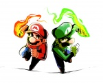 2boys colored luigi mario mario_&_luigi multiple_boys super_mario_(series) super_mario_bros  rating:Safe score:0 user:rijuanon