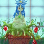 big_belly blood guro plant_girl tagme  rating:Questionable score:0 user:Iwanttobeeaten