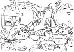 >_< artist:rorinko cushion eating koyukkuri marisa playing reimu toy  rating:Safe score:0 user:jogiff