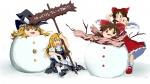 artist:pman hakurei_reimu kirisame_marisa marisa reimu snow tears  rating:Safe score:0 user:Yami