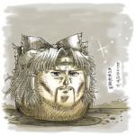 artist:kaz crossover hokuto_no_ken reimu solo tagme toki  rating:Safe score:0 user:Yami