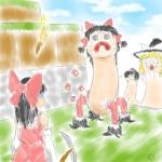 creeper hakurei_reimu marisa minecraft parody reimu  rating:Safe score:0 user:Yukkuri