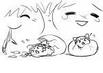 >_< artist:rorinko birth egg egg_birth koyukkuri marisa reimu  rating:Safe score:0 user:Yukkuri