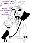 bathrobe ghost_(artist) gore heart skinsuit_au william_afton  rating:Safe score:0 user:Ghost