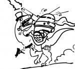 30_tons battlemech cape casings chibi color cute dinosaur firing hat is light mech meme missing_artist monocle pipe ride riding shell_casings shells sidearm silly top_hat tophat urbanmech urbie uzi  rating:Safe score:1 user:bgb