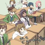 3males 5+girls arai_taro hakamichi_shizune komaki_ikuno maeda_takashi mikado_misha miura_miki school_uniform suzumiya_haruhiko tainaka_ritsu weee  rating:Safe score:1 user:Pickles