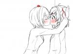 aye blush kiss lesbian natsuki sayori  rating:Safe score:0 user:cereune