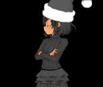 alternate_outfit edit gothsuki natsuki santa_hat satchel solo tan  rating:Safe score:1 user:Santanon!