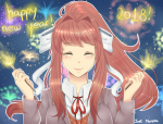 fireworks luraihirai monika new_year solo  rating:Safe score:0 user:Kuso_Coobie