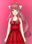 blush doki_doki_literature_club dress edit monika red_dress sprite  rating:Safe score:0 user:Weirdo01