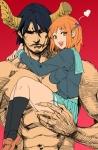 1boy 1girl archvermin_(artist) hataraku_maou-sama! maou_sadao sasaki_chiho satan_jacob tagme  rating:Safe score:0 user:redherring