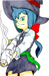 death_ray hat little_witch_academia lwa ponytail tagme  rating:Safe score:0 user:Aquarionoid