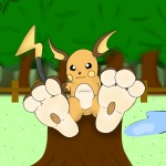 3_fingers attractive long_feet orange paws peatchy(artist) pocket_monsters pokémon raichu  rating:Questionable score:2 user:PeatchyDraws