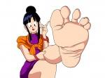 1girl barefoot chichi dragon_ball dragon_ball_z feet foot milf pov soles toes  rating:Questionable score:6 user:Anonsepth7