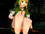 1girl barefoot the_legend_of_zelda linkle nintendo soles stormsage44_(artist) toes  rating:Questionable score:7 user:Raijin44